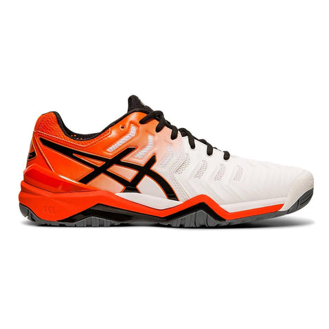 Asics Gel Resolution 7 Men's Tennis Shoe (White/Koi) - RacquetGuys