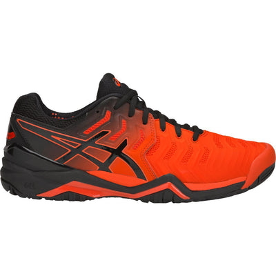 Asics Gel Resolution 7 Mens Tennis Shoe (Red/Black)