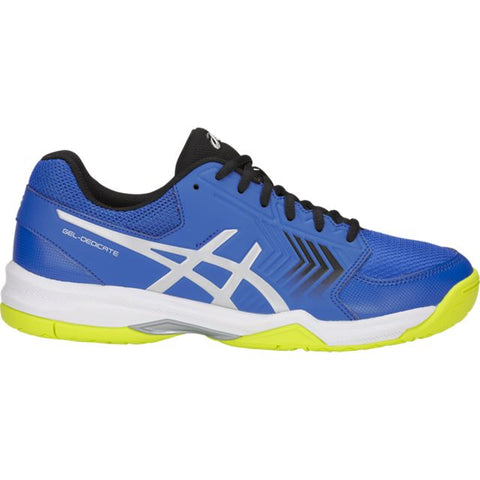 Asics Gel Dedicate 5 Mens Tennis Shoe (Blue/Silver)