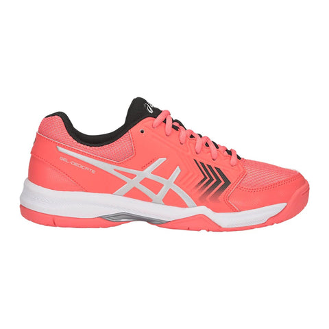 Asics Gel Dedicate 5 Womens Tennis Shoe (Papaya/White) - RacquetGuys