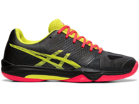 Asics Gel Fastball 3 Women's Indoor Court Shoe (Black/Sour Yuzu) - RacquetGuys.ca