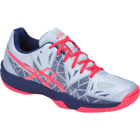 Asics Gel Fastball 3 Womens Indoor Court Shoe (Soft Sky/Diva Pink) - RacquetGuys