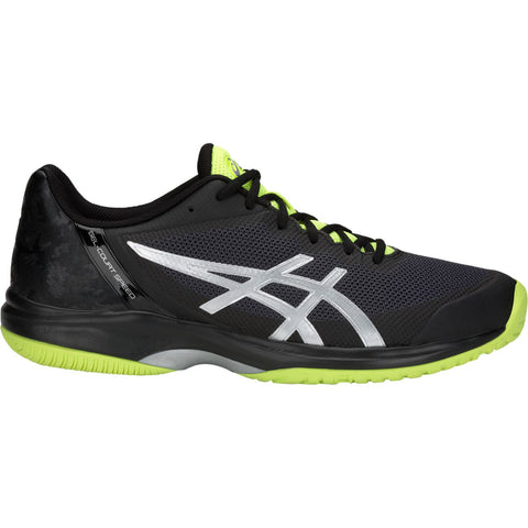 Asics Gel Court Speed Mens Tennis Shoe (Black/Flash Yellow) - RacquetGuys