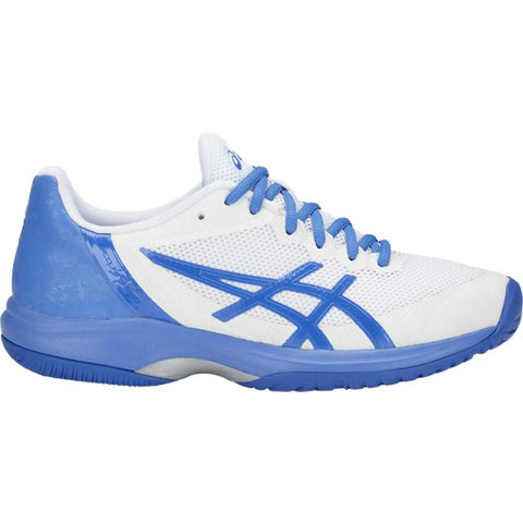 Asics Gel Court Speed Womens Tennis Shoe (White/Blue) - RacquetGuys