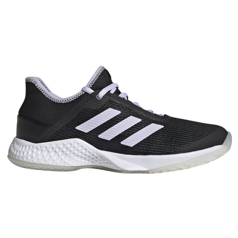 adidas Adizero Club Women's Tennis Shoe (Black/White) - RacquetGuys