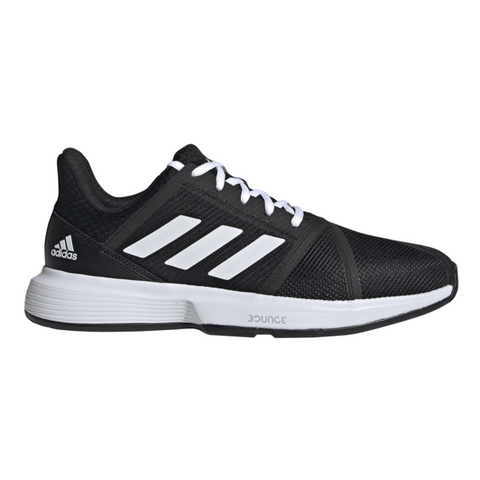 adidas CourtJam Bounce Men's Tennis Shoe (Black/White) - RacquetGuys