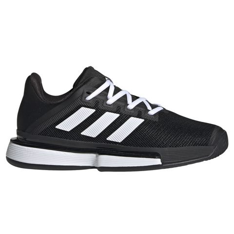 adidas SoleMatch Bounce Women's Tennis Shoe (Black/White) - RacquetGuys