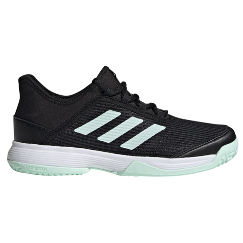 adidas Adizero Club Junior Tennis Shoe (Black/Mint/White) - RacquetGuys