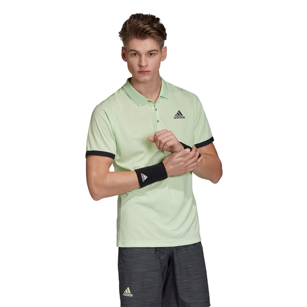adidas Men's New York Polo (Glow Green/Carbon) - RacquetGuys