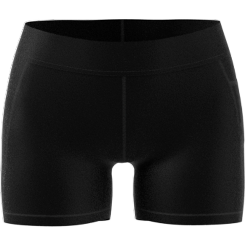 adidas Women's TechFit 4-Inch Short Tights (Black/White) - RacquetGuys.ca