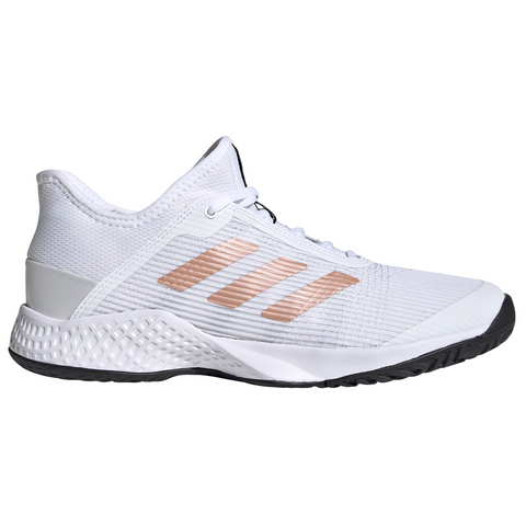 adidas Adizero Club Women's Tennis Shoe (White/Copper/Black) - RacquetGuys
