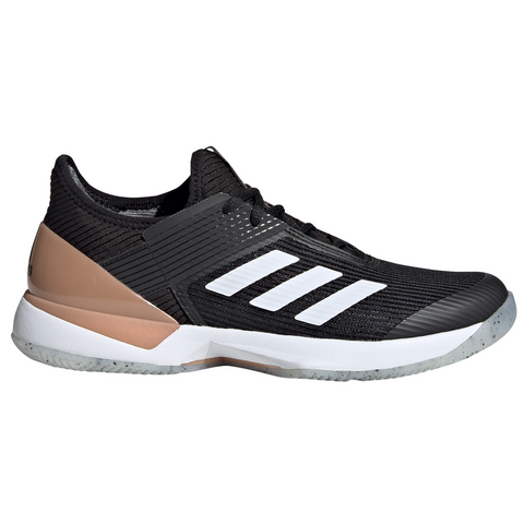 adidas Adizero Ubersonic 3 Women's Tennis Shoe (Black/White/Copper) - RacquetGuys