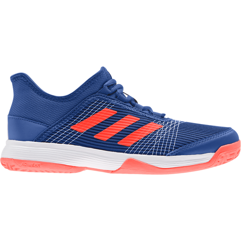 adidas Adizero Club K Junior Tennis Shoe (Blue/Red/White) - RacquetGuys
