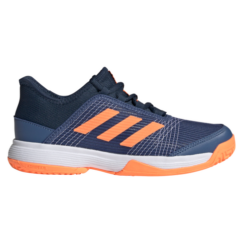 adidas Adizero Club Junior Tennis Shoe (Blue/Orange) - RacquetGuys.ca