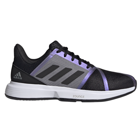 adidas CourtJam Bounce Men's Tennis Shoe (Black/Grey) - RacquetGuys
