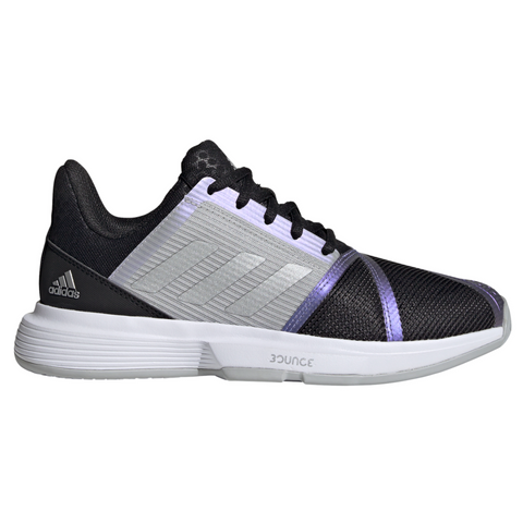 adidas CourtJam Bounce Women's Tennis Shoe (Black/Silver/Grey) - RacquetGuys