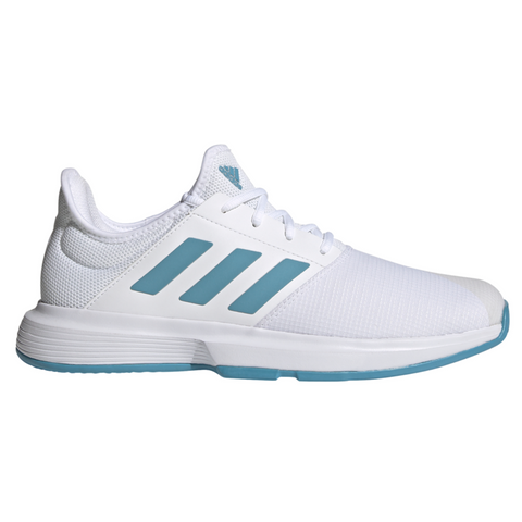 adidas GameCourt Men's Tennis Shoe (White/Blue) - RacquetGuys.ca