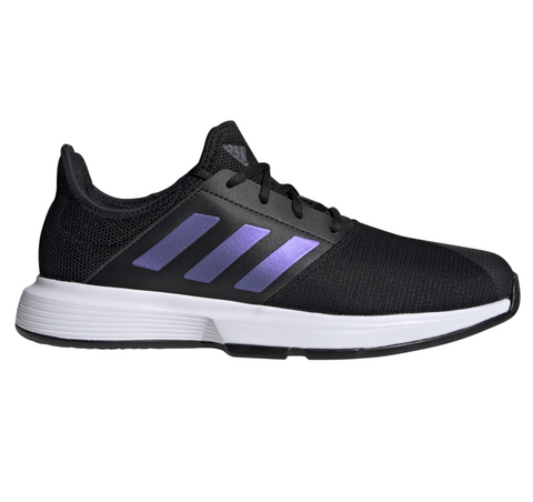 adidas GameCourt Men's Tennis Shoe (Black/White) - RacquetGuys.ca