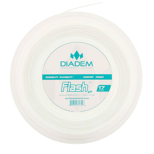 Diadem Flash 17 Tennis String Reel (White) - RacquetGuys