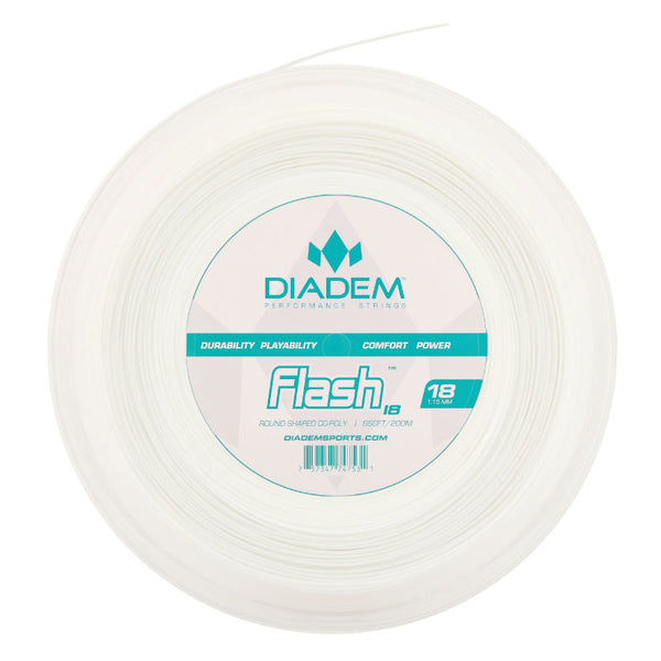 Diadem Flash 18 Tennis String Reel (White) - RacquetGuys