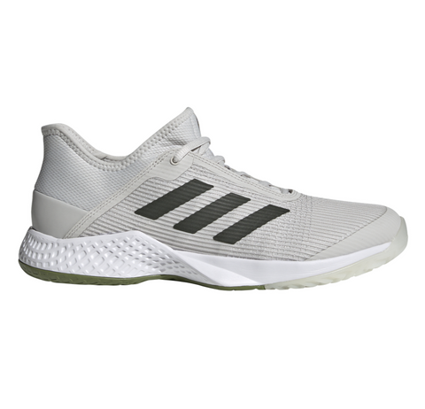 adidas Adizero Club Men's Tennis Shoe (Grey/White/Green) - RacquetGuys