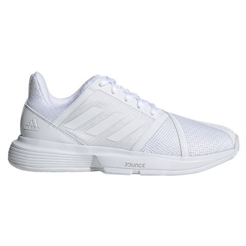 adidas CourtJam Bounce Women's Tennis Shoe (White) - RacquetGuys