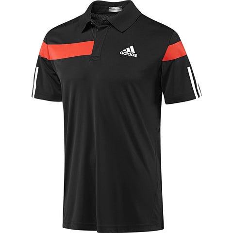 adidas Men's Barricade Traditional Polo (Black/Red)