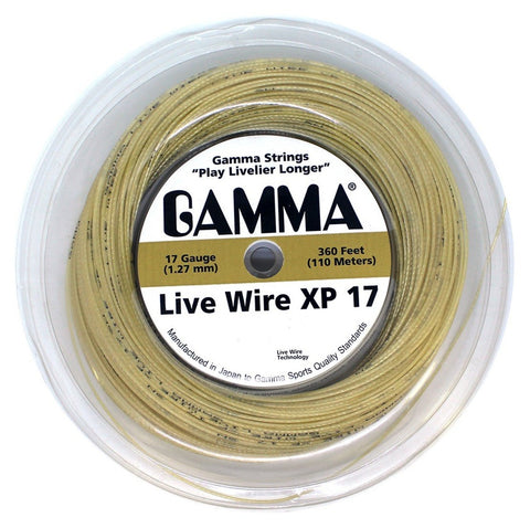 Gamma Live Wire XP 17 Tennis String Mini Reel (Natural) - RacquetGuys