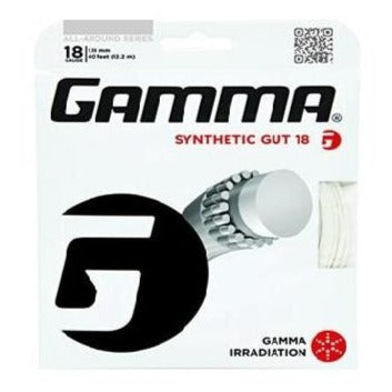 Gamma Synthetic Gut 18 Tennis String (White) - RacquetGuys