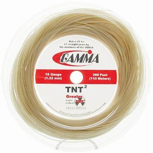 Gamma TNT2 16 Tennis String Mini Reel (Natural) - RacquetGuys.ca