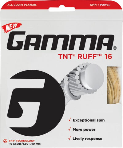Gamma TNT Ruff 16 Tennis String (Natural)