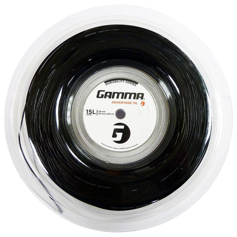 Gamma Advantage 15L Tennis String Reel (Black)