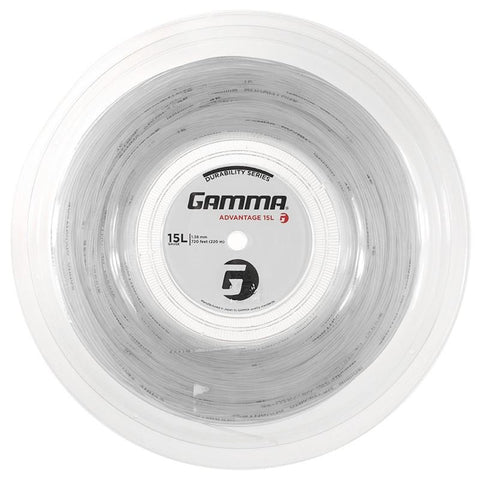 Gamma Advantage 15L Tennis String Reel (White)