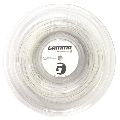 Gamma Challenger Synthetic Gut 16 Tennis String Reel (White)