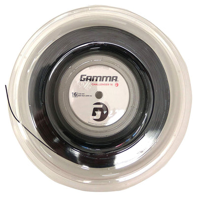 Gamma Challenger Synthetic Gut 16 Tennis String Reel (Black)