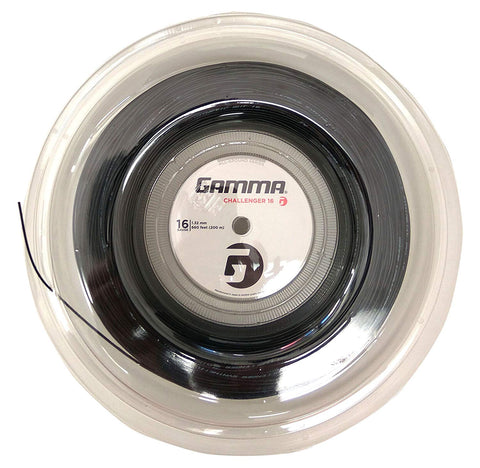 Gamma Challenger Synthetic Gut 16 Tennis String Reel (Black) - RacquetGuys.ca