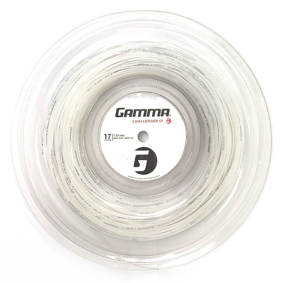 Gamma Challenger Synthetic Gut 17 Tennis String Reel (White)