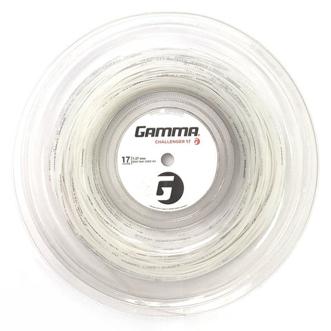 Gamma Challenger Synthetic Gut 17 Tennis String Reel (White) - RacquetGuys