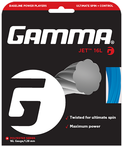 Gamma Jet 16L Tennis String (Blue)