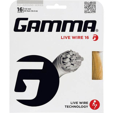 Gamma Live Wire 16 Tennis String (Natural) - RacquetGuys