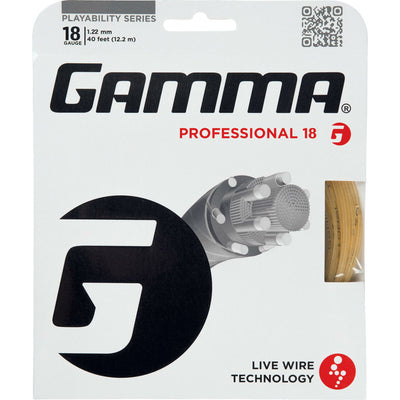 Gamma Live Wire Professional 18 Tennis String (Natural) - RacquetGuys