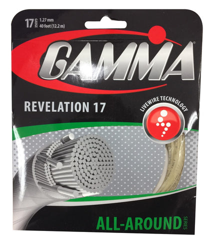 Gamma Revelation 17 Tennis String (Natural)