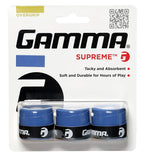 Gamma Supreme Overgrip 3 Pack (Blue) - RacquetGuys