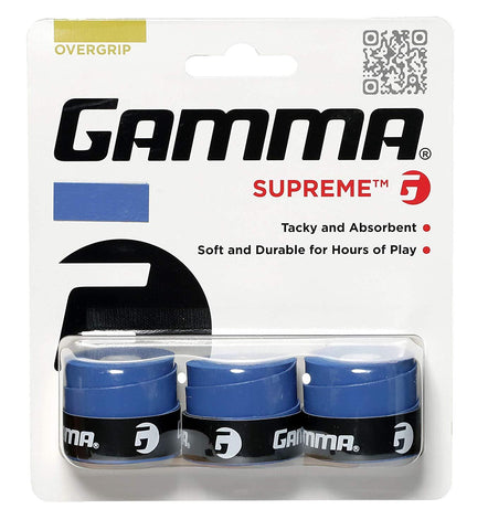 Gamma Supreme Overgrips 3 Pack (Blue) - RacquetGuys