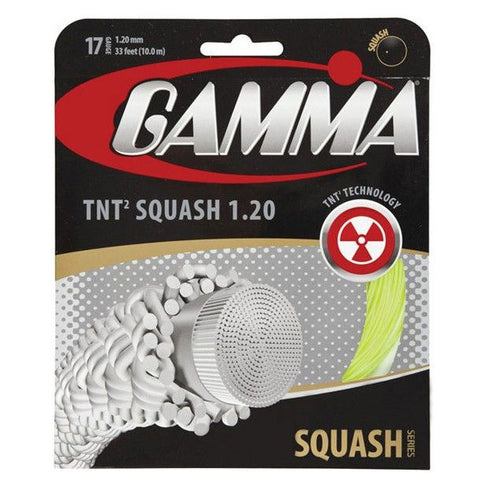 Gamma TNT2 17 Squash String (Yellow) - RacquetGuys