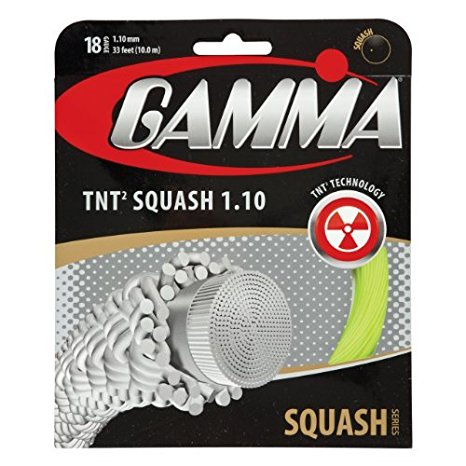Gamma TNT2 18 Squash String (Yellow) - RacquetGuys