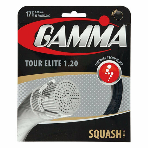 Gamma Tour Elite 17 Squash String (Black) - RacquetGuys.ca