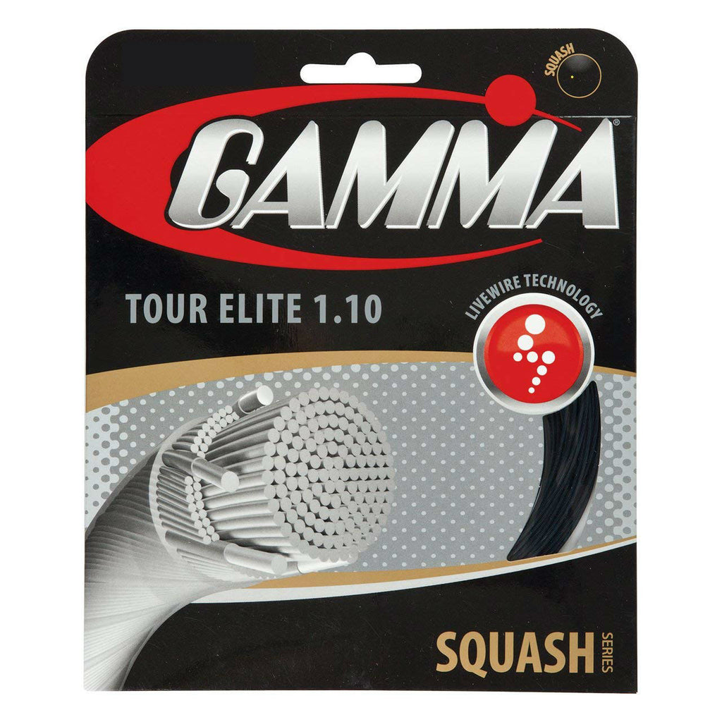 Gamma Tour Elite 18 Squash String (Black) - RacquetGuys.ca