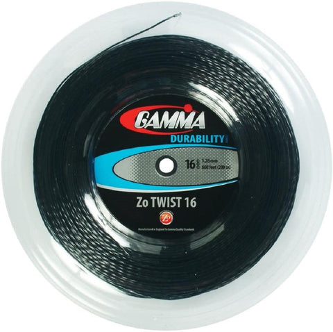 Gamma Zo Twist 16 Tennis String Reel (Black) - RacquetGuys.ca