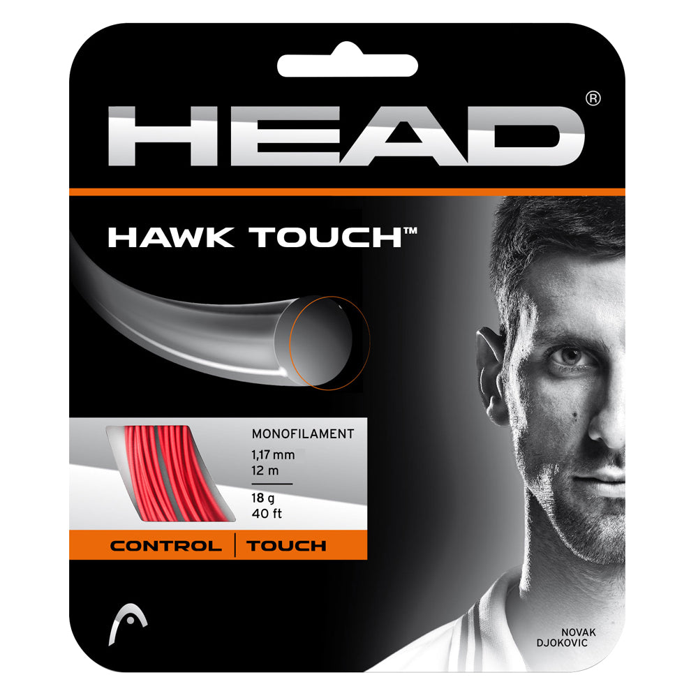 Head Hawk Touch 19 Tennis String (Red) - RacquetGuys.ca
